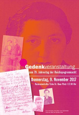 Flyer zur Gedenkveranstaltung